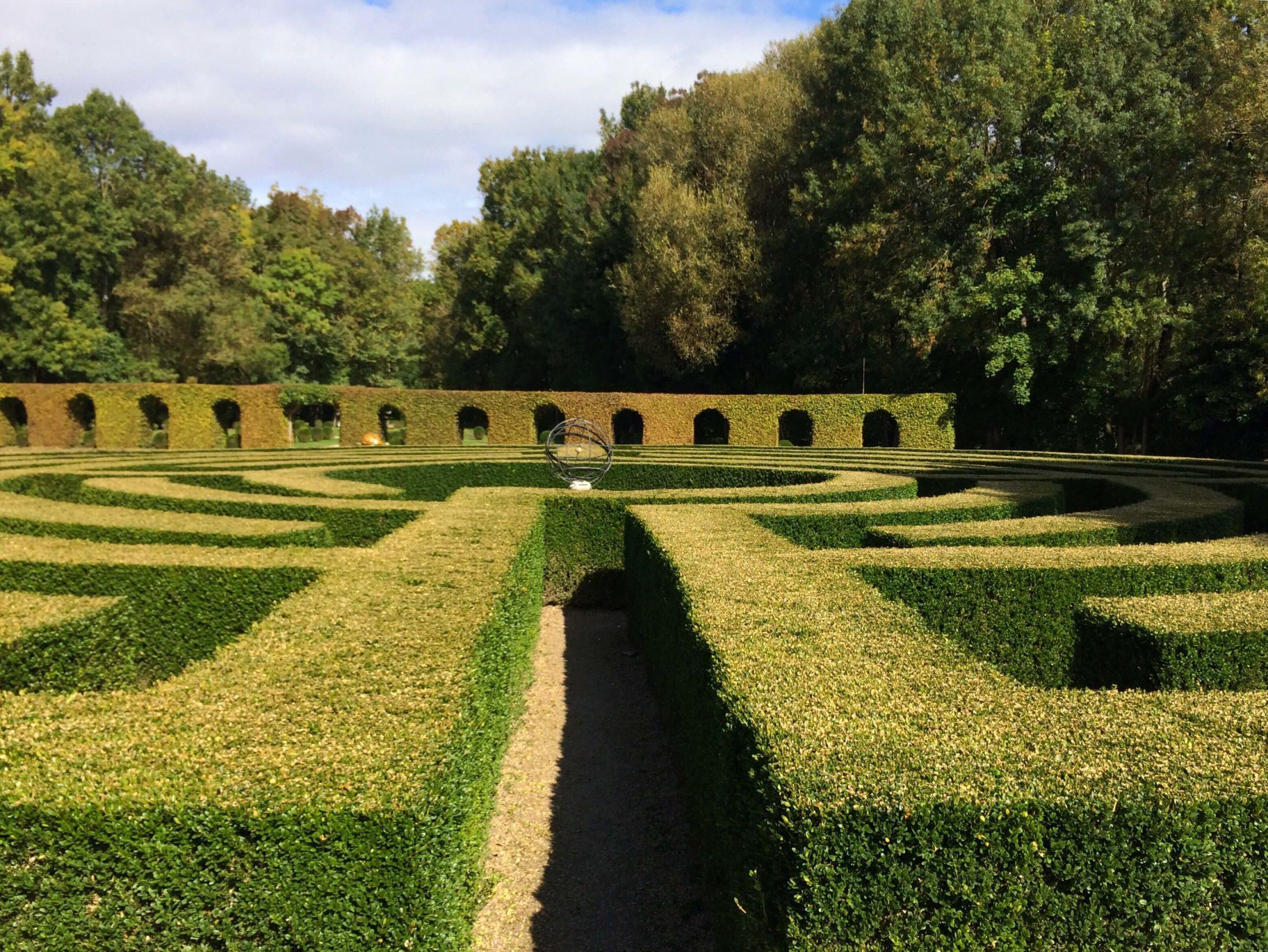 labyrinthe du château de dampierre
