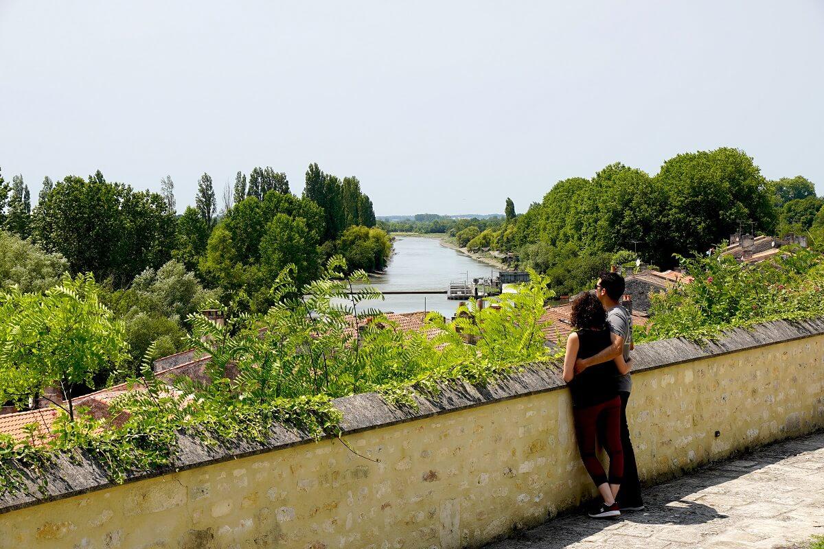 vue sur la Charente depuis le belvédère de Saint Savinien